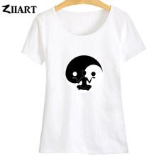LOST DHARMA, Йога, лотос, Тай Чи, Ба-ва, Инь, Ян тай, Цзи, космическое время, я эго, я сам, Бог, девочка, женская летняя футболка с коротким рукавом, ZIIART()