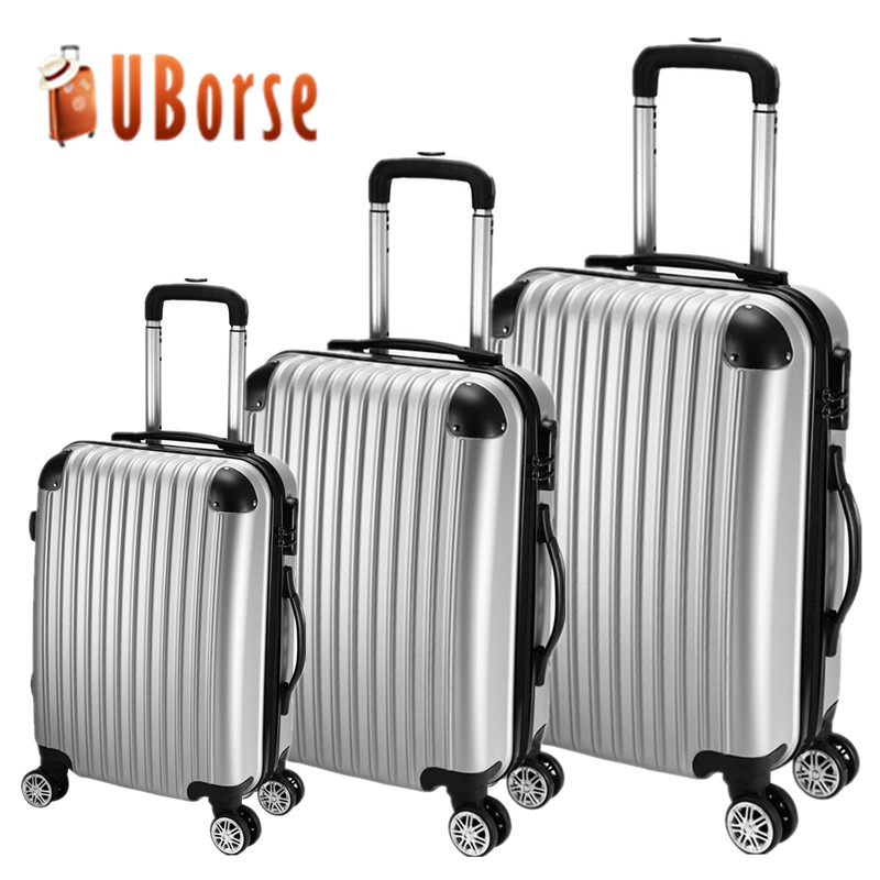 cheap abs travel trolley luggage 3 pcs travel suitcase luggage set