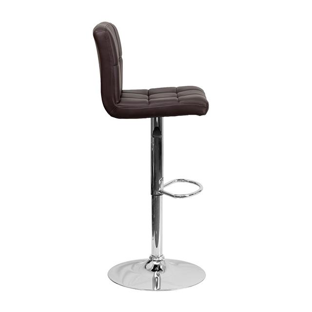 Минималистичный шарнирный регулируемый стул для кафе из искусственной кожи с высокой и средней спинкой