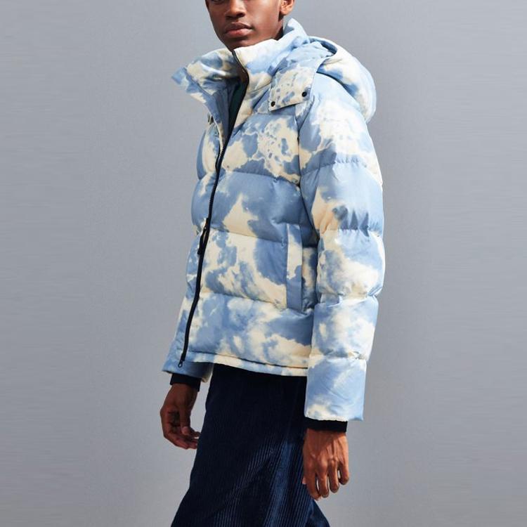 Custom Windbreaker Men's Winter Coat Short Ripstop Down Jacket Warm Hoods Windbreaker Thick Puffer Jacket Man