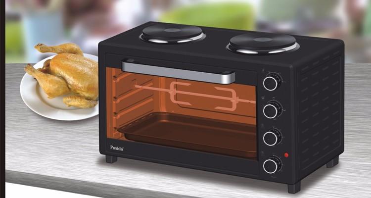 Электрическая печь большой емкости 60 л с двумя горячими пластинами