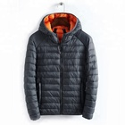 Light Weight Breathable Winter Mens Hooded Goose Down Jackets