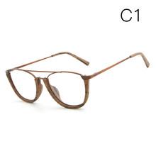 HDCRAFTER, винтажные оправы для очков, для мужчин/женщин, дерево, металл, очки для чтения, близорукость, оправа с прозрачными линзами, деревянные ...(Китай)