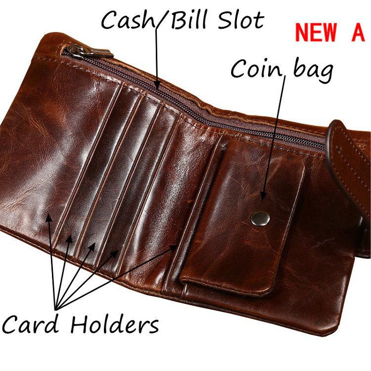 4980361bd7 Men Wallets Famous Brand 100% Cowhide Genuine Leather Wallet Men Card  Holder With Coin Pocket Short Vintage Design Wallet Purse