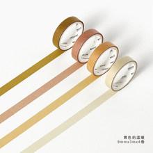 Декоративные наклейки JIANWU 9 мм х 3 м, 4 шт./компл., оригинальные наклейки для ноутбука, наклейки для бумаги, канцелярские принадлежности для оф...(Китай)