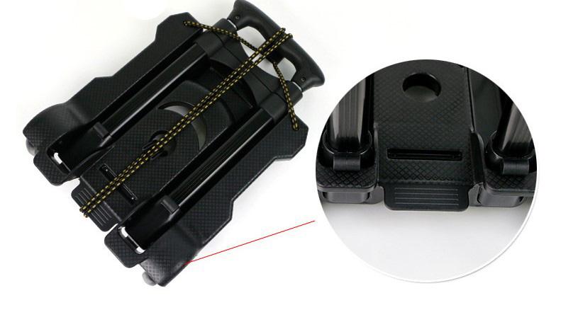 Компактный и практичный 2 колеса багажа в аэропорту тележка на продажи складной ручной клади тележки багажную тележку