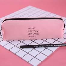 Черно-белый чехол-карандаш в горошек, милая розовая сумка-карандаш для девочек-подростков, женская сумка-карандаш из искусственной кожи, ка...(Китай)