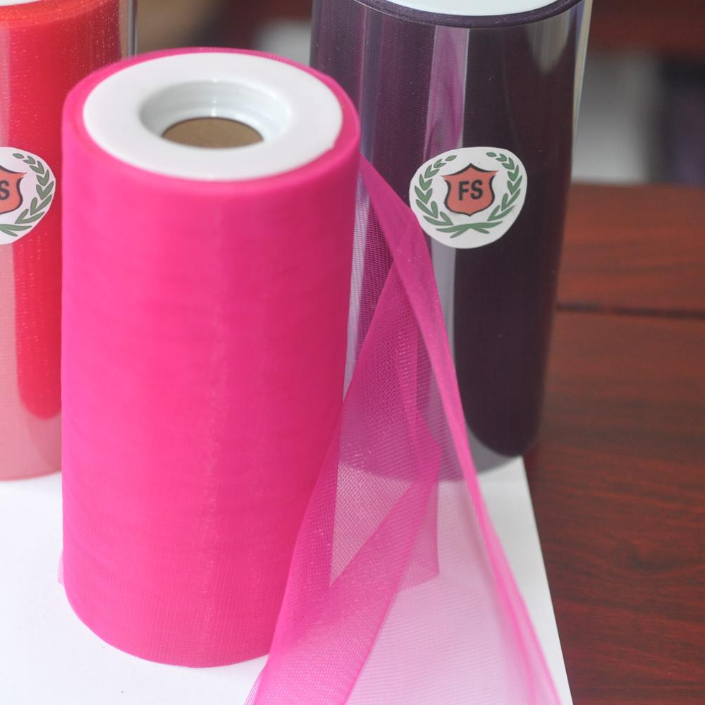 100% Polyester Material and Woven Technics cheap tulle fabric rolls picture
