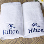 100% Bath Towel Towels Bath 100% Cotton 100% Cotton Hotel Bath Hand Towel With Embroidered Logo For Luxury Hilton Hotel