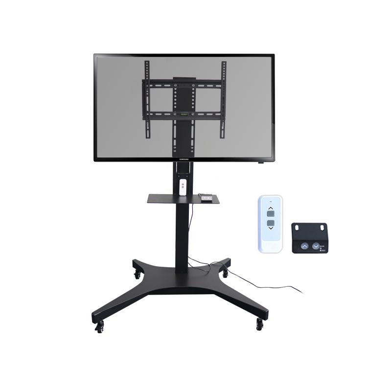 Автоматическая подъемная Мобильная светодиодная тележка для телевизора с дистанционным управлением