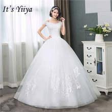 Женское свадебное платье It's YiiYa, белое простое свадебное платье без рукавов с вырезом лодочкой, HS284(China)