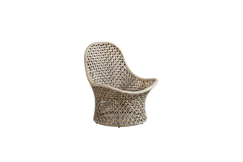 Nature PE rattan strip garden modern outdoor chair furniture