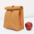 Brown washable kraft paper lunch bag
