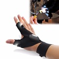 Cycling Gloves Outdoor Fishing Magic Strap Fingerless Glove LED Flashlight Torch Cover Survival Camping Hiking Rescue