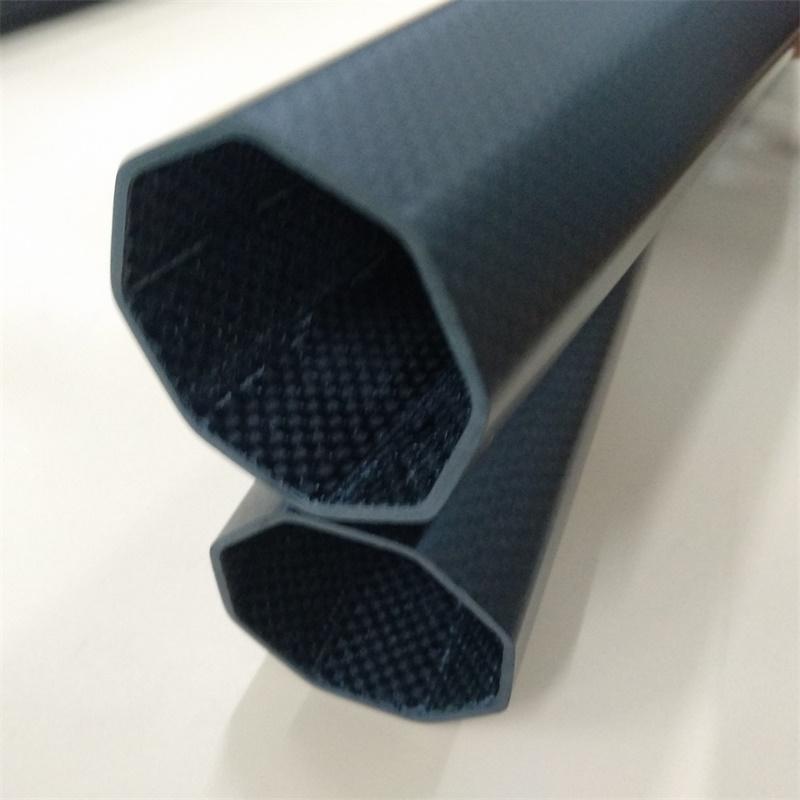 Китай, лидер продаж, изготовленная на заказ восьмиугольная трубка 3K из углеродного волокна с высокой прочностью