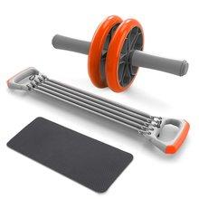 3-в-1 тяга груди, тренажер пуш-ап ручки живота роликовые колеса руки экспандер тяга бар фитнес само-сборка тренажерного зала(China)