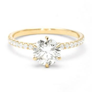 14k gold 1 carat diamond band classic engagement wedding ring women