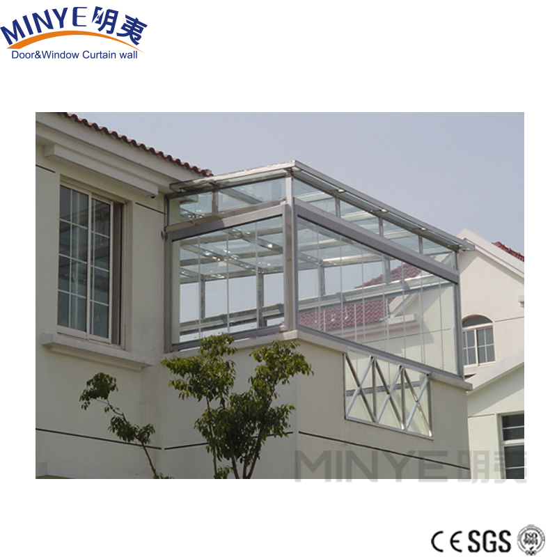 2018 Minye elegant design glass sunroom panels greenhouse for garden