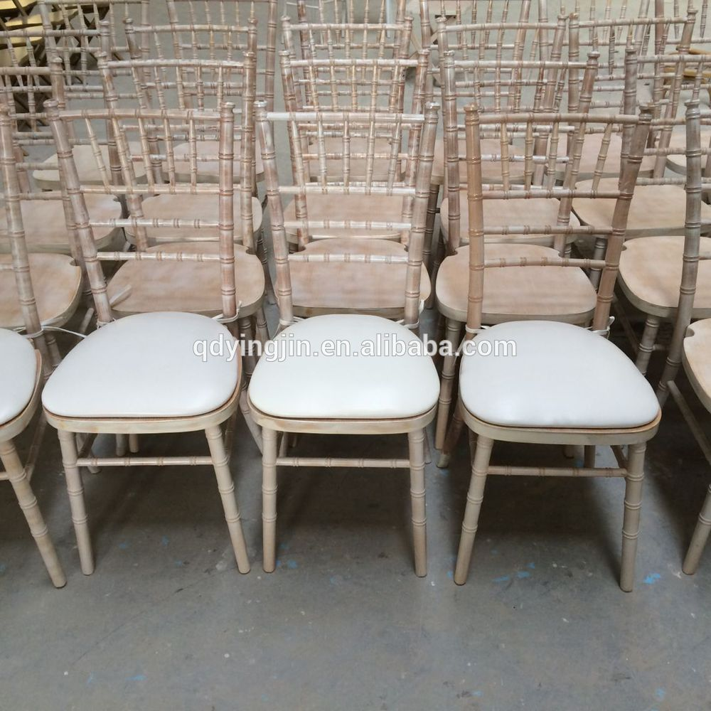 Tables Chairs For Sale: Limewash Wood Chiavari Chairs Used Chiavari Chairs For
