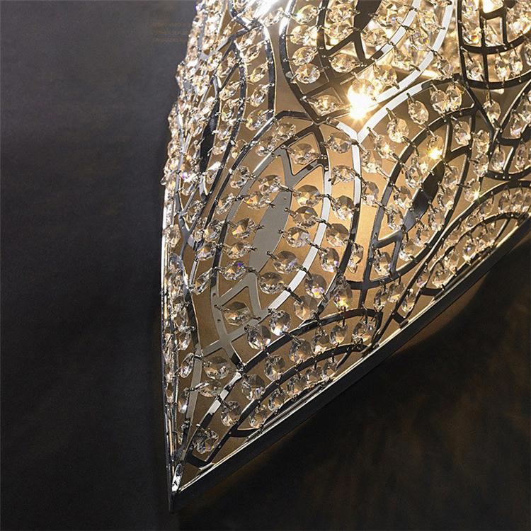 Современный внутренней отделки с украшением в виде кристаллов бра внутренней отделки роскошный цвета: золотистый, серебристый настенный светильник для Villa Hotel