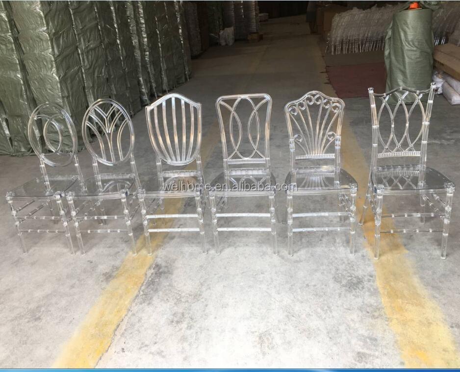 Новая модель прозрачных поликарбонатных свадебных стульев
