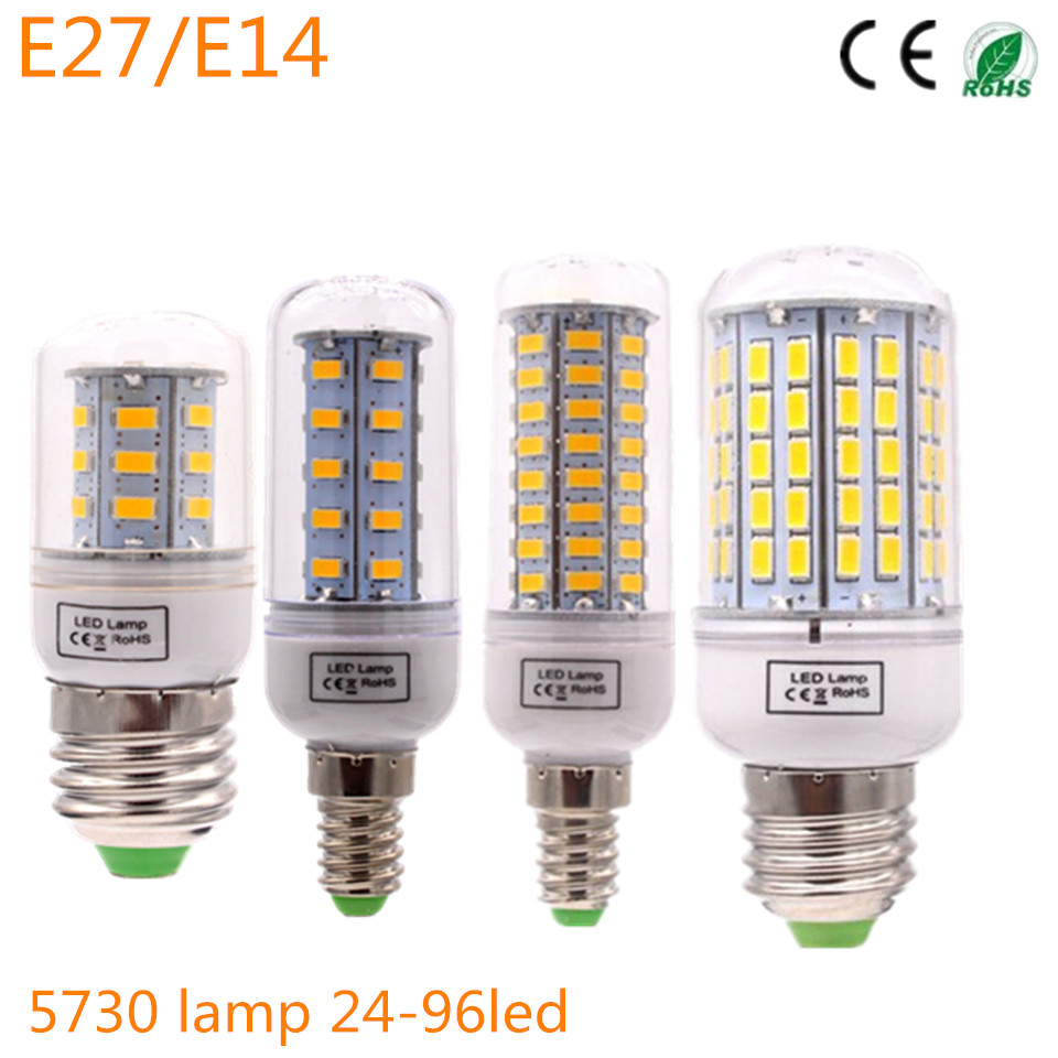 led lamp corn bulb candle light e27 e14 smd 5730 lamparas 24 36 48 56 69 72 96leds lampada e27. Black Bedroom Furniture Sets. Home Design Ideas