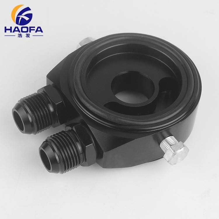 AN8 Fitting Universal Black Oil Filter Cooler Plate Adapter