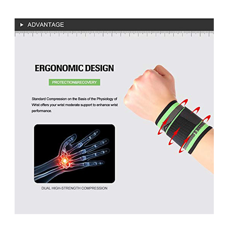 Adjustable Wrist Support Compression Sleeve Brace with Strap for Weight Lifting Tendonitis ect.