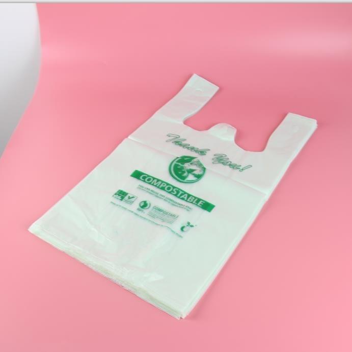 Пользовательские Биоразлагаемые Пакеты для покупок из пла-пластика, биоразлагаемые продуктовые пакеты высшего качества