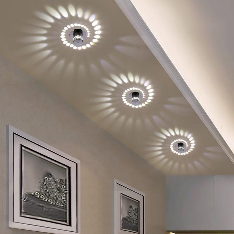 Пористая светодиодная rgb Потолочная настенная лампа с пультом дистанционного управления для потолочного крепления