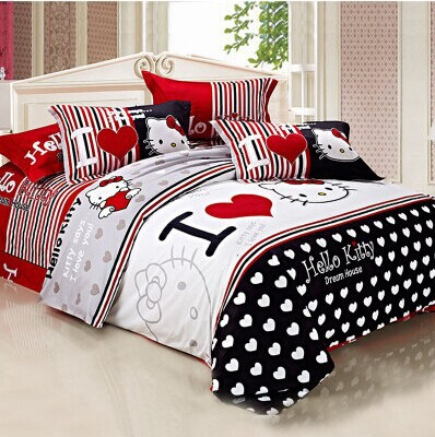Hello Kitty Bed Set King Size
