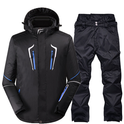 High quality hot sale winter outdoor sport waterproof men ski jacket two-piece ski & snow wear ski suit