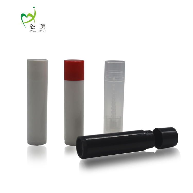 Wholesale low moq stock 4.2g pp mini slim empty round lipstick tube
