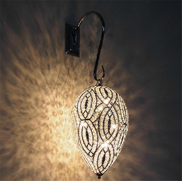 European Wedding Decor Modern Chandelier Water Drop Crystal Pendant Lamp with Silver Frame