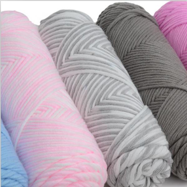 Soft Crochet Milk Cotton Knitting Yarn Soft Baby Cotton Yarn