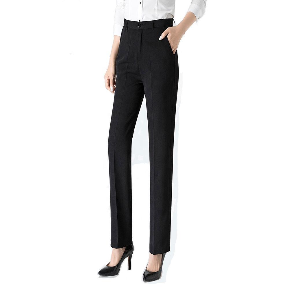 Traje De Negocios Para Otono Y Primavera Pantalones Rectos Negros Ropa De Trabajo Pantalones Ajustados Para Mujer Oem Buy Ropa De Oficina Para Mujer Pantalones Negros Para Mujer Bragas Product On Alibaba Com
