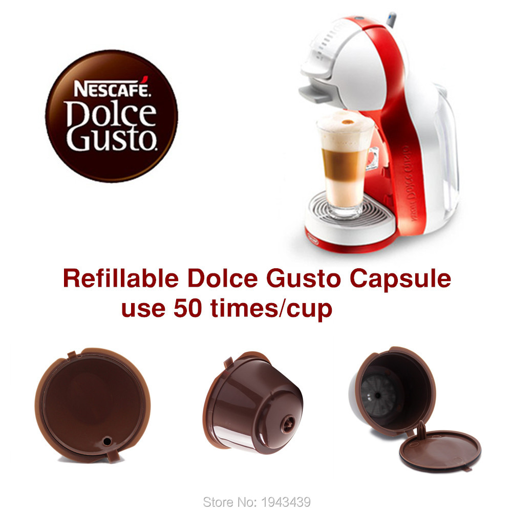 3pcs pack use 150times dolce gusto coffee capsule plastic capsule refillable reusable compatible. Black Bedroom Furniture Sets. Home Design Ideas