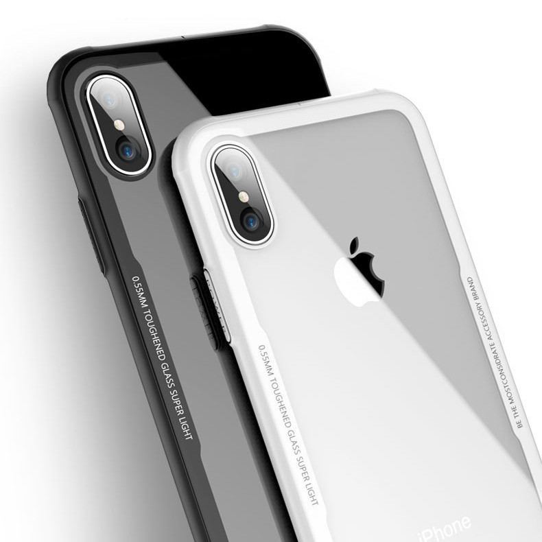 For Iphone X 10 Case Tpu Tempered Glass Cover Back Shell Mobile Phone Cases Cover - Buy Tempered Glass Phone Case For Iphone X,Tempered Glass Cell ...