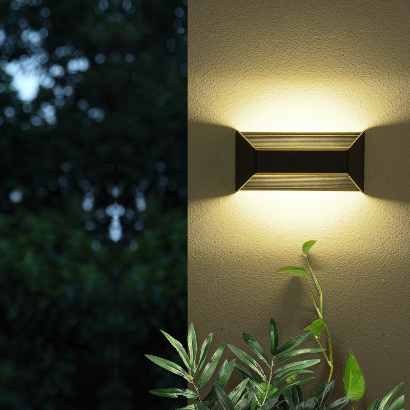 Up down Led Die Cast Aluminium Box Waterproof IP54 10W Outdoor Wall Light for courtyard