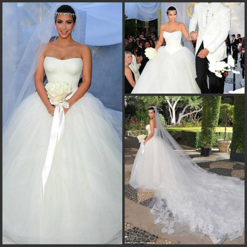 2014 New Design Luxury Lace Tulle Ball Gown Organza Kim Kardashian With Long Train Wedding Dresses Buy Kim Kardashian Wedding Dress With Long Train Wedding Dresses Wedding Dresses Product On Alibaba Com