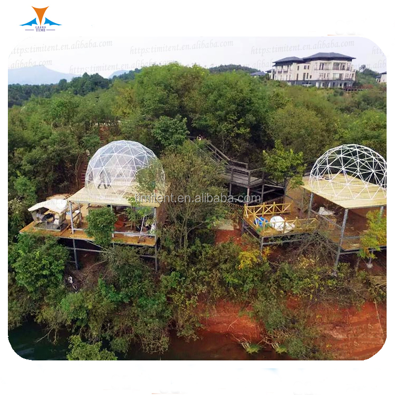 high quality 6m transparent geodesic dome house