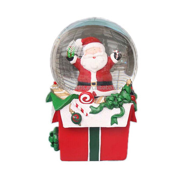 Christmas snow globe with Christmas santa
