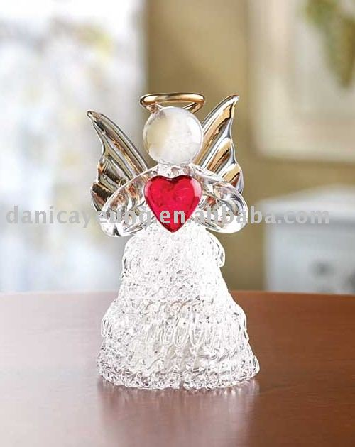 Spun Glass Angel With Red Heart Buy Glass Angels Hanging Glass Angels Hanging Glass Angel Christmas Ornaments Product On Alibaba Com