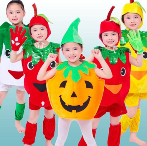 10pcs lot Free Shipping Newest Fruit Vegetable Plant Design Stage Kids Boys Girls font b Fancy