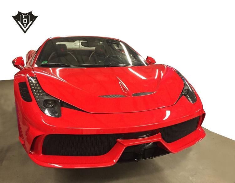 Popular Style For Ferrari 458 Front Bumper 458 Hood Speciale 458 Body Kit Buy For Ferrari 458 458 Hood 458 Body Kit Product On Alibaba Com