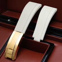 Аксессуары для часов 20 мм применяются к водонепроницаемому ремешку серии Ролекс с откидной пряжкой для мужчин высокого класса резиновый ре...(Китай)