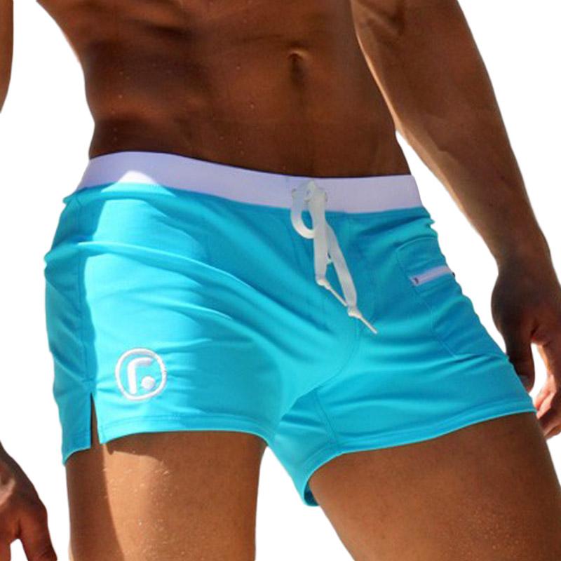 c81858dc77 Hot Sexy Men Swimwear Brand AQUX Men's Swimsuits Surf Board Beach Wear Man Swimming  Trunks Boxer