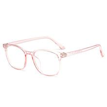 f783a152b954 Retro Clear Lens Glasses Frame Women Vintage Eyewear Frame for Near Sight  Men Clear Pink Blue