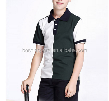 school students' short sleeve T-shirts wear summer colored children's polo shirts school uniform