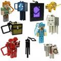 100pcs minecraft keychain toys set 2015 New minecraft sword steve creeper zombie key ring anime online